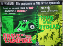 Grave of the Vampire/Tomb of the Undead, Original Combo UK Quad Film Poster, Horror '72